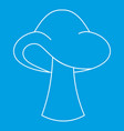 small mushroom icon outline style vector image vector image