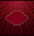 the frame on a red background with gold polka dots vector image vector image