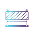 traffic barrier flat icon gradient color vector image vector image