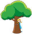 Tree Hugger vector image