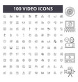 video line icons signs set outline vector image vector image