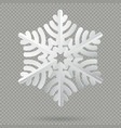 white realistic folded paper christmas snowflake vector image