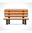 wooden bench design isolated vector image