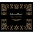 Gold borders and corners vector image
