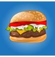 hamburger on the blue vector image