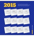2015 calendar template brochure geometric design