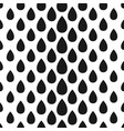 abstract seamless drop pattern monochrome black vector image vector image