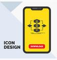 algorithm design method model process glyph icon vector image