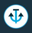 anchor icon colored symbol premium quality vector image vector image