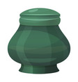 antique classic urn icon vintage green amphora vector image vector image
