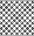black gingham seamless pattern vector image