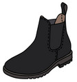black pear boot vector image vector image