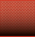brick wall background cartoon vector image