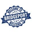 bridgeport round ribbon seal vector image vector image
