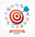 business management concept vector image