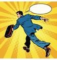 businessman quickly comes forward vector image vector image