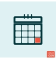 Calendar sheet isolated vector image vector image