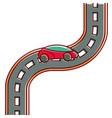 car road street highway direction plan vector image