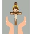catholic religion design vector image