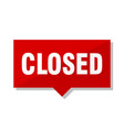 closed red tag vector image vector image