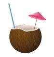 coconut cocktail icon vector image vector image