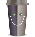 Coffee Cup with a smile Isolated on a white vector image vector image