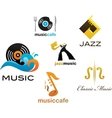 collection music icons and elements vector image