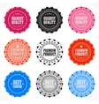 collection premium quality badges vector image vector image