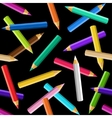colored pencils seamless pattern vector image vector image