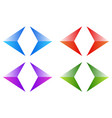 colorful arrows arrowheads shiny glossy arrow vector image vector image