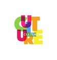 culture concept letters colorful fashion logo vector image vector image