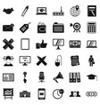 deposit icons set simle style vector image vector image