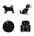 dog puppy and other web icon in black style vector image vector image