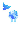earth and dove vector image vector image