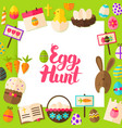 egg hunt paper concept vector image vector image