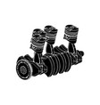 engine over white background vector image vector image