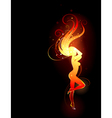Fiery girl vector image vector image