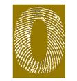 Fingerprint Alphabet No 0 vector image vector image
