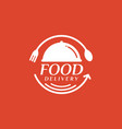 food delivery on red background vector image vector image