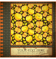 Grunge card with apples vector image vector image