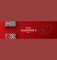 hearts shape and gift box on red dots background vector image