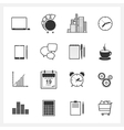 Icons collection of web design objects vector image vector image