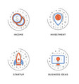 income investment startup business ideas set 4 vector image
