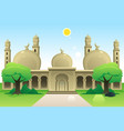 islamic mosque at noon vector image vector image