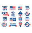 made in usa logo label for patriot american flag vector image vector image