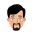 man cartoon face male facial expression vector image vector image