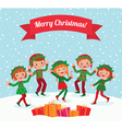 Merry Christmas elves vector image