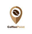 minimalistic logo for coffee shop logotype vector image vector image