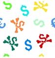 Mortal Debt Flat Seamless Pattern vector image vector image