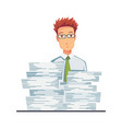 office documents from copier office worker with vector image vector image